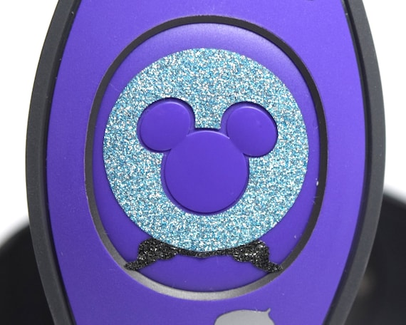 1 Glow In The Dark Disney Magic Band Decal Sticker Mickey Head Cutout Inspired