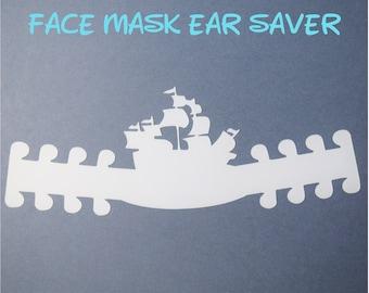 Pirates of the Caribbean Ship Face Mask Ear Saver | Ready to Ship!