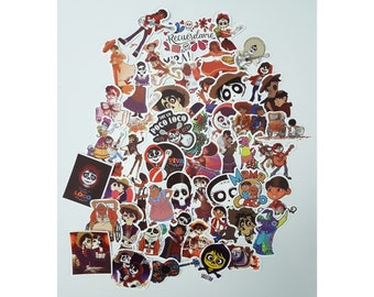 Coco Stickers | Vinyl Sticker for Laptop, Scrapbook, Phone, Luggage, Journal, Party Decoration | Assorted Stickers