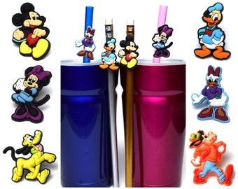 Fab 6 Disney Straw Buddies | Mickey, Minnie, Donald, Daisy, Goofy and Pluto