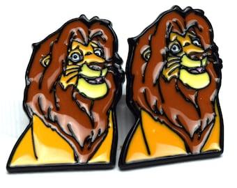 Lion King Adult Simba Earrings | Lion King Earrings | Lion Earrings | Lion King Jewelry | Disney Earrings | Disney Jewelry | Lion King Gift