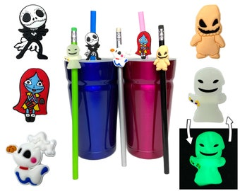 Nightmare Before Christmas Straw Buddies   Jack Skellington Pencil Topper   Sally , Zero, Oogie Boogie   Ready to Ship!