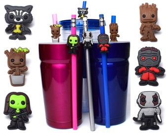 Guardians of the Galaxy Straw Buddies | Drax, Rocket, Starlord, Gamora, Groot Baby Groot Pencil Topper | Ready to Ship