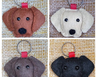 Labrador, Labs, handmade, felt, keyring, keychain
