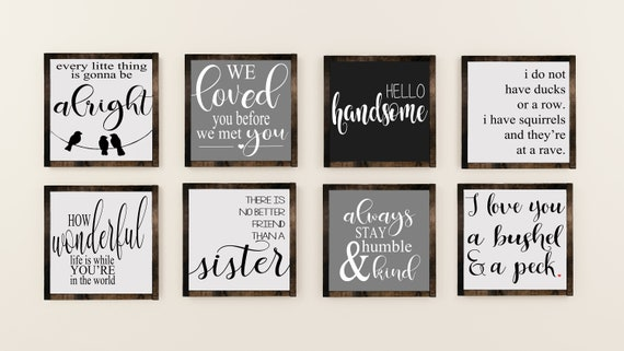 Wood Signs Home Decor Gift Ideas Sayings Inspiring Quotes Love Sayings Family Living Room Decor Nursery Decor