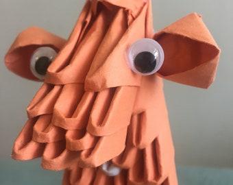 Origami Orange Giraffe