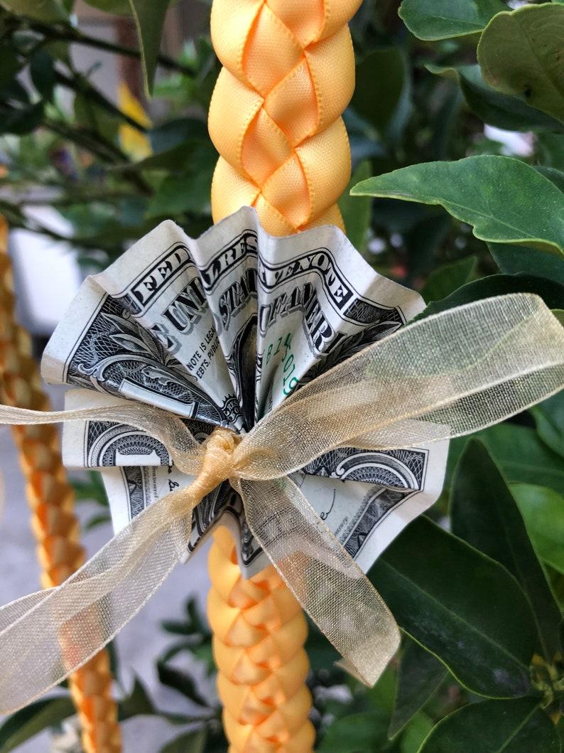 Customized Choose Your Single Color Satin Double Ribbon Money Graduation Lei