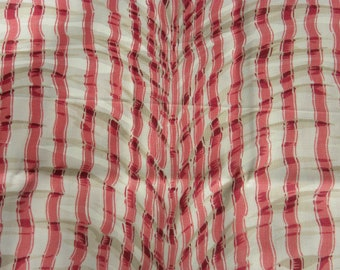 """Pink Striped Home Decor Fabric - 54"""" Wide x 79"""" Long - 2.19Yd"""