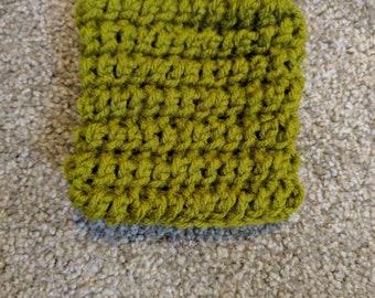 Moss green soap holder/scrubber