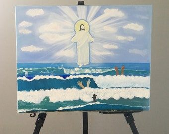 GOD BEYOND RACE Original Oil Painting on Stretched Canvas