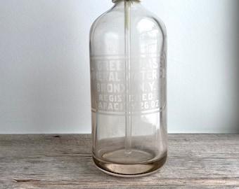 Vintage Seltzer Bottle - Bronx - Mineral Water