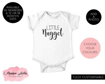 5b667af16 Little Nugget Baby Onesie, Bodysuit, Jumpsuit, Girls, Boys, Unisex,  Newborn, Baby Shower, Baby Gift, Funny Onesie, Cute, Baby Clothing, Food