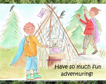 adventuring card - soul smiles watercolor whimsy