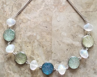 Glass Shell Necklace for Ocean Lovers
