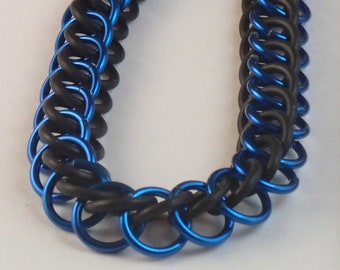 Stretch Rubber Aluminum Bracelet - Anodized Aluminum - Made to Order