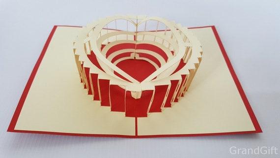 anniversary father/'s day Las Vegas USA  Pop Up Kirigiami 3D Cards Handmade uniqe  Birthday Wedding Baby shower mother/'s day