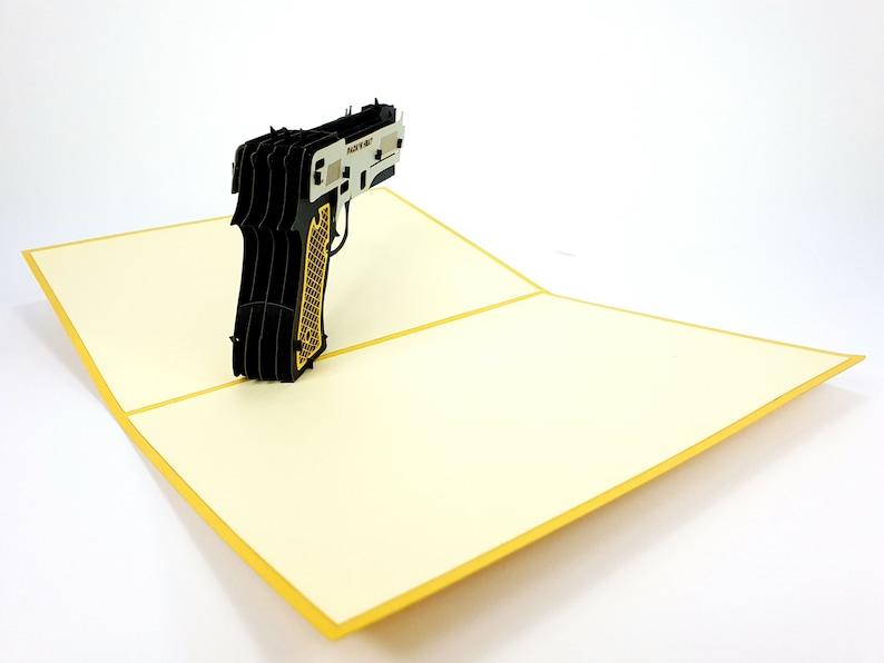 anniversary mother/'s day Wedding Gun Police FBI Father Pop Up Kirigiami 3D Cards Handmade uniqe  Birthday father/'s day