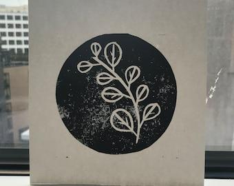 Eucalyptus Lino Print