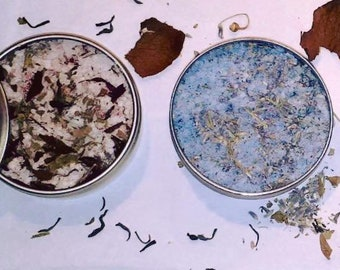 Bath salts Eastern version (pink henna)-(Peppermint tea) - (pink ghassoul) - (ghassoul henna)