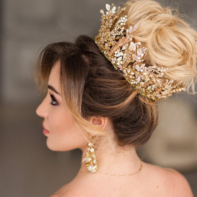 Wedding Headband Wedding Earrings Head Piece Bridal Jewelry Set Crystal Bridal Tiara Bridal Jewelry Diadema Wedding Tiara Bridal Crown