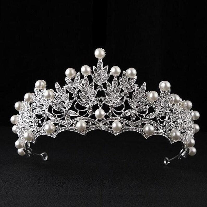 Wedding Tiara Bridal Tiara Wedding Tiara Crown Bridal Jewelry Crystal Bridal Headpiece Quinceanera Tiara Bridal Earrings Silver Gold Tiara