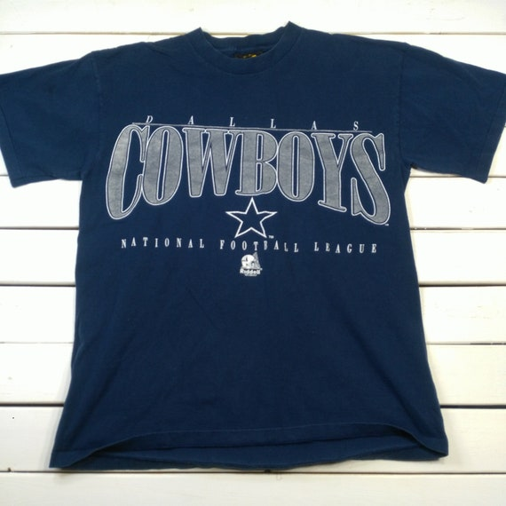 vtg Dallas Cowboys Riddell Helmet Mens T-Shirt Large Blue  7eecf24f5
