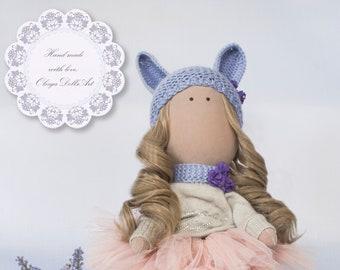 Doll, Tilda dolls, Handmade doll, Ragdoll, Decorative Little Girl Doll, Toys, Fabric Doll, Home Decoration, Textile doll