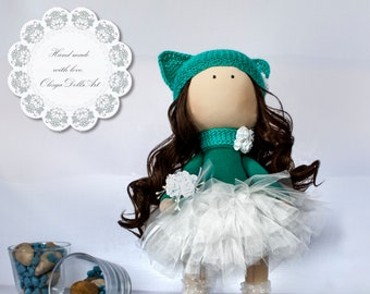 Tilda dolls, Handmade doll, Ragdoll, Decorative Little Girl Doll, Toys, Fabric Doll, Home Decoration, Textile doll