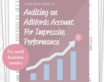 Your 2018 Guide to Auditing an AdWords Account For Impressive Performance   Workbook   Printable   eBook   Tutorial   Guide