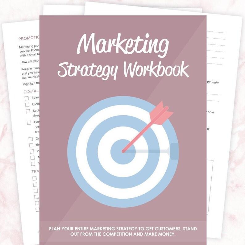 Marketing Strategy Workbook  Marketing Strategy Template  image 0