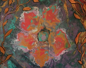 Floral Abstraction,  Small original artwork