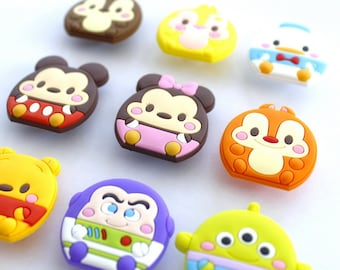 93f7bb1b704 Cartoon character Charms Lovely Buckle, Cute Accessories Decoration Party, Pvc  Fit Buckles And Bracelets, Cartoon Croc Jibbitz Kids Gift