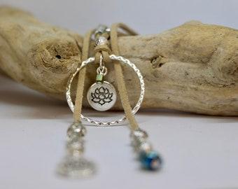Ethnic necklace Beige necklace