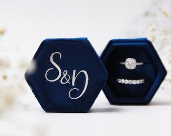 Personalised Velvet Ring Box