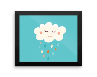 Happy Cloud Framed Poster