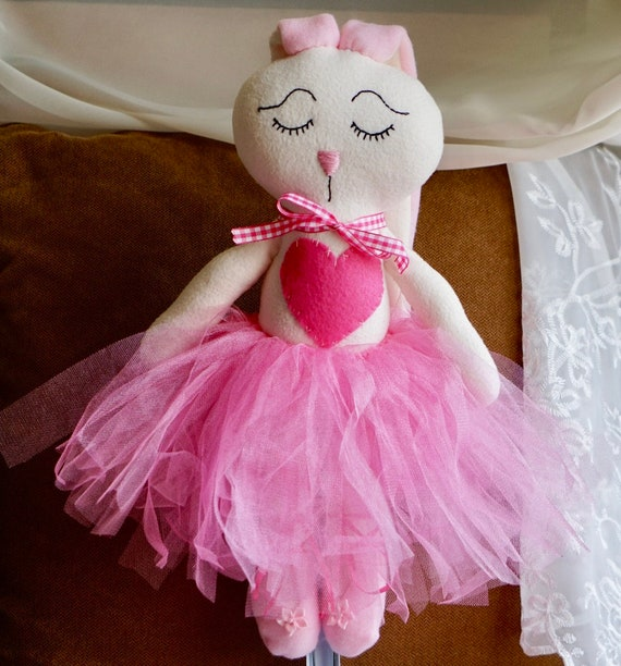 Handmade Ballerina Bunny Doll stuffed Bunny doll