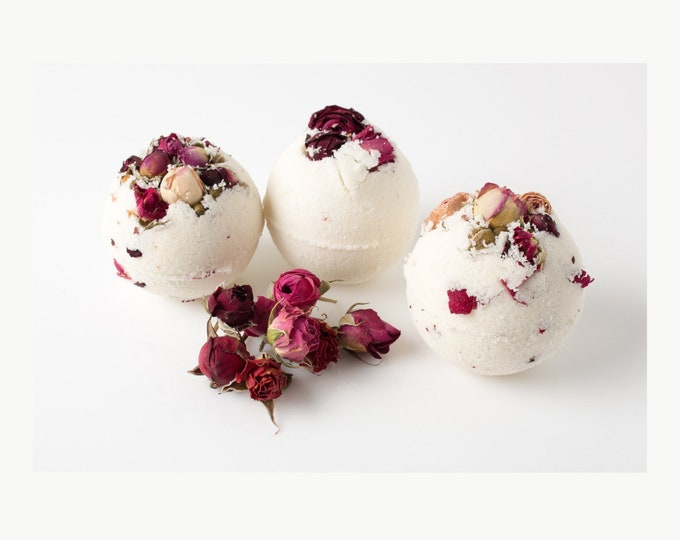Hibiscus Rose Goat Milk Bath Bomb/Set of 3