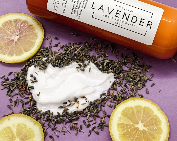 Lemon Lavender Body Butter/Agave/Arrowroot