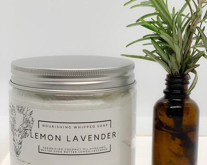 Lemon Lavender Essential Oil Whipped Soap