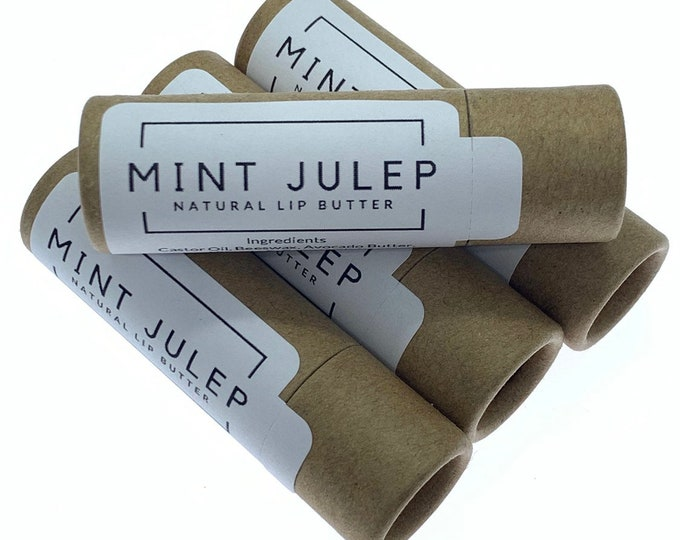 Zero Waste/ Sustainable/ Mint Julep Lip Butter (Pack of 4)