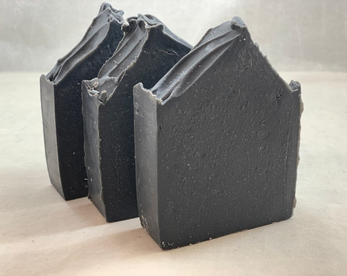 Charcoal Lavender Soap with Bentonite Clay