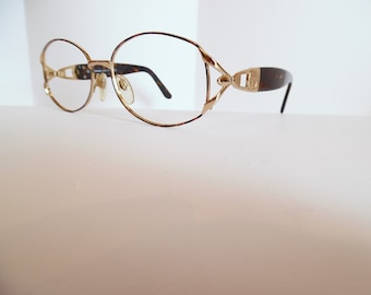 9270c7f0384a Vintage Womens Sergio Tacchini S.T. 1047-S T802 Eyeglasses Designer GOLD  Used Frame Made in ITALY
