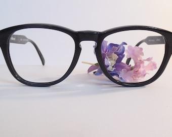 ebe3989a8e98 Vintage MARCHON Ellesse club black n lizard Eyeglasses Used Frame made in  France