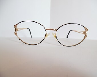 a5db1efee2 Vintage SERGIO TACCHINI S.T.1084-S T809 Eyeglasses Designer Gold Used Frame  Made in ITALY