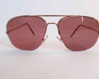 22aecff13e4 Vintage Lottet France Pilot Aviator Eyeglasses Gold Plated Used Frame made  in France