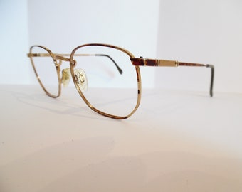 b57ca63641ab Vintage Luxottica 424 TORTOISE GOLDELECTROPLATED Eyeglasses Used Frame Made  in Austria