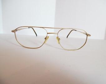35d8389bf5 Vintage GANT G 410 GLD Eyeglasses Designer Gold Used Frame made in JAPAN
