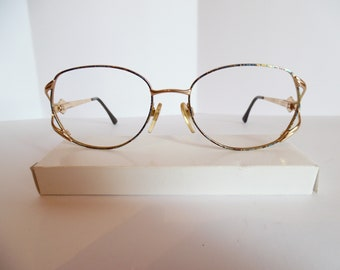 a91be9bf5170 Vintage Luxottica 2184 G672 GEP Eyeglasses Designer Gold Used Frame Made in  ITALY