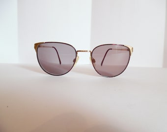 382dfb71d3a6 Vintage Womens MARCHON Charli Chaplin Collection GoldElectroPlated  Eyeglasses Designer Used Frame