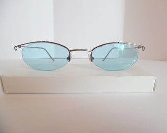 d53db5ebf35f Vintage Liz Klaiborne Beta Titanium 100 Eyeglasses Designer GUN Made in  Japan
